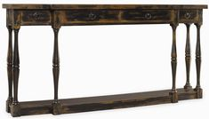 Sanctuary Four Drawer Thin Console by Hooker Furniture