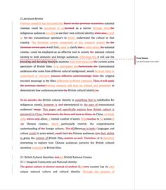 Professional Proofreading Example From Proof Master Proofreader, Cultural Identity, Literature, Let It Be, Literatura