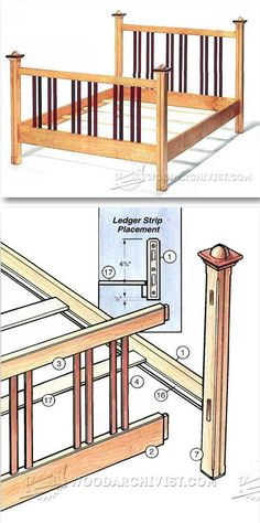 Bed Frame Plans - Furniture Plans and Projects | WoodArchivist.com