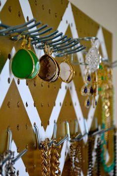 Jewelry Organizer Wall Display Jewelry Holder by KaterTotsShoppe