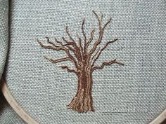 While playing around with silk gimp the other day, I was struck with the inspiration to embroider this tree. Now, trees may seem like fairly mundane, unimportan
