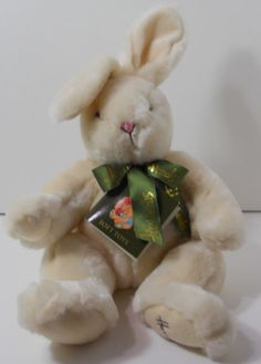 Awesome Harrods Bunny Rabbit Beige Soft Toy Plush Stuffed 17