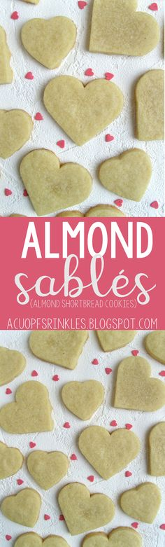These buttery sablés (French shortbread cookies) are made using ground almonds and a couple of drops of almond extract to take the almond flavor up a notch. Only four ingredients and no eggs required ! Classic French Desserts, French Dessert Recipes, Recipe D, Recipe Using, My Recipes, Cake Recipes, Almond Shortbread Cookies, Almond Joy, Ground Almonds