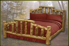Brand New Mountain Cottage Rustic Furniture Aspen Log Bed Rustic Log Furniture, Unique Furniture, Home Furniture, Furniture Dolly, Inexpensive Furniture, Cheap Furniture, Furniture Removal, Outdoor Furniture, Furniture Ideas