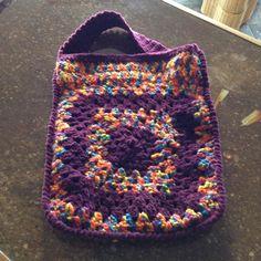 #4 purple & NZ hand-coloured book bag