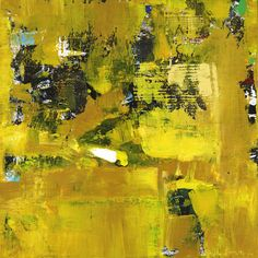 """Waiter is a yellow and black 30x30"""" abstract painting by Shawn McNulty. ©2011"""