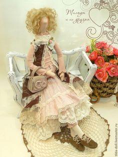 Купить Кукла в стиле Бохо: Кристина - тильда, кукла Тильда, куклы тильды, текстильная кукла