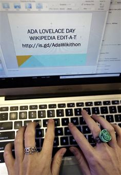 """students, staff hold """"edit-a-thon"""" to remedy Wikipedia's dearth of entries for female scientists. Breaking The Glass Ceiling, Ada Lovelace, Scientists, Nifty, Hold On, Students, Female, Brown, Women"""