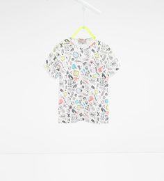 Imagen 1 de Camiseta graffiti de Zara