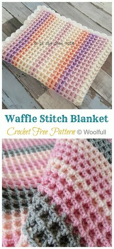 Waffle Stitch Baby Blanket Crochet Free Patterns - Crochet & Knitting Source by howtomakes Crochet Afghans, Baby Girl Crochet Blanket, Free Baby Blanket Patterns, Crochet Baby Blanket Free Pattern, Easy Crochet Baby Blankets, Crochet Baby Blanket Beginner, Crochet Girls, Crochet Waffle Stitch, Manta Crochet