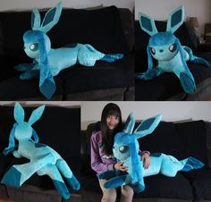 eeveelutions glaceon life size plush - Google Search ; I WANT ALL LIFE SIZE EEVEELUSHONS!!!!!!!!!!!!!!!!!!!!!!!!