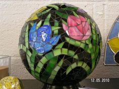 Tulip Gazing Ball - by the Capricorns Compass