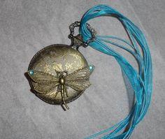 steampunk dragonfly locket from gozer on craftster.org