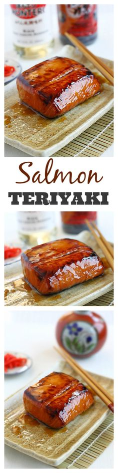 Salmon teriyaki recipe. Super easy, simple ingredients, amazing, and healthy | rasamalaysia.com