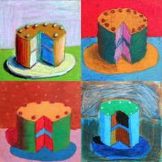Wayne Thiebaudis an American artist who worked in the '60s. He is often associated with the Pop Art because of his choice of subjects (objects symbol of consumerism such as cakes, candies,…