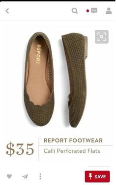 Love the perforations in these flats!  Seems they would be very breathable!  Maybe in a tan/nude color would be nice!