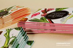 Layered Business Cards. Design by Jessica Brousseau. #jukeboxprint