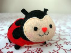 Handmade Educational Toy - Red Ladybug - Stuffed Toy -  Kids Toys - Soft Toy - Children's Toy
