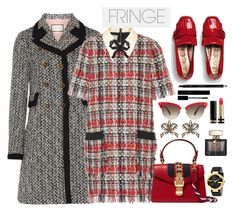 """Shimmy Shimmy: Fringe"" by faten-m-h ❤ liked on Polyvore featuring Gucci, fringe and gucci"