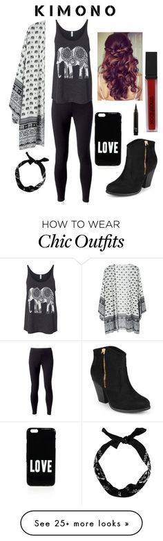 """Elephant Kimono"" by soph13-13 on Polyvore featuring Jockey, New Look, Givenchy, Smashbox, Journee Collection and Retrò"