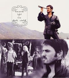 Captain Hook and Emma, the first time he saw her
