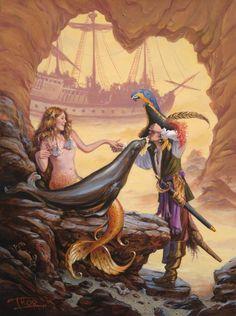 mermaid and pirate http://michaelmay.us/08blog/12/1216_otmermaidpirate500.jpg