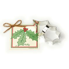 Ann Clark Holly Leaf Cookie Cutter - get set for holiday baking with this unique Christmas cookie cutter.