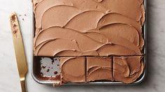 Chocolate Sheet Cake with Dark Chocolate Buttercream Frosting