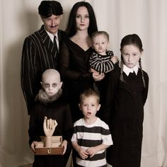 Addams Family costume for a family or group at Halloween