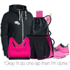 """- """"P.E. class? More like P.T. class. PHYSICAL TORTURE!"""" - by rashana on Polyvore featuring moda, NIKE, Kate Spade and Victoria's Secret"""