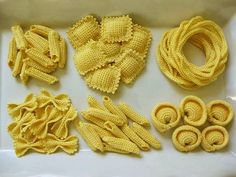 Pasta Party - crochet food pattern - NL Hood I think I could adapt the ravioli and spaghetti to knit