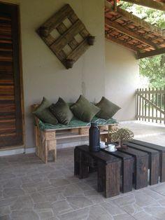 Perfekt Rechteckiges Design Sitzbank Aus Holzpaletten Komfort Garten. See More.  Ideen Europaletten Terrassenmöbel Bauen Robust Sofa Tisch