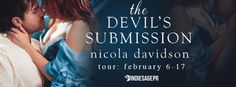 This is the day for Love And Nicola Davidson The Devils Submission Is Exactly What We Need!    Old flames burn the hottestTHE DEVILS SUBMISSIONbyNicola Davidson  Authoris #LIVE! Grab your copy now!  Amazon:http://amzn.to/2jnYUAB  B&N:http://bit.ly/2kuQPKG  iBooks:http://apple.co/2kNdwpI  Kobo:http://bit.ly/2jOSmY2  Amazon UK:http://amzn.to/2jwqsiD  Amazon CA:http://amzn.to/2kafiC2  Amazon AU:http://amzn.to/2kkLHrt  Add to #Goodreads:http://bit.ly/2jh5ZOJ  #GIVEAWAY  Enter for a chance to win…