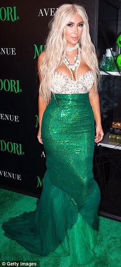 Catch of the day: Kim Kardashian dressed as a mermaid for Halloween