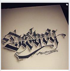 Calligraffiti – Lettering – – Graffiti World Tattoo Lettering Design, Creative Lettering, Lettering Styles, Tattoo Fonts, Hand Lettering, Graffiti Lettering Alphabet, Chicano Lettering, Graffiti Font, Graffiti Tattoo