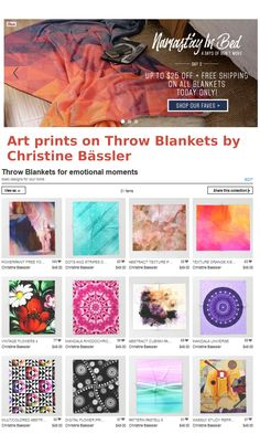 Blanket Sale: Up to $25 Off + Free Worldwide Shipping - Today Only!   https://society6.com/christinebssler/collection/throw-blankets-for-emotional-moments?curator=christinebssler