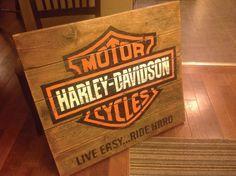 Harley Davidson Pallet Sign 2x4 Wood Ideas Pinterest