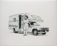 canvas, Cars, creative, Illustration, Inspiration, oil, painting, Retro, trucks, vans, vehicles,