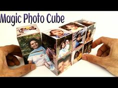 "How to make a ""Magic Photo Cube Album"" for Mother's Day - Paper Craft Tutorial - YouTube"