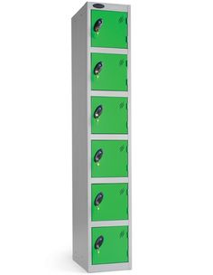 Six Tier Probe Lockers These steel coloured Probe lockers are manufactured to the highest specification Lockers are welded and rivetted in Plastic Lockers, Door Locker, School Lockers, Brain Dump, Shelving, Locker Storage, Doors, Skylark, Office Furniture
