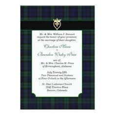 Classic Black Watch Tartan Wedding Invitation