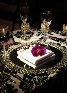 Elegant table setting tablescape. http://www.annabelchaffer.com/categories/Dining-Accessories/