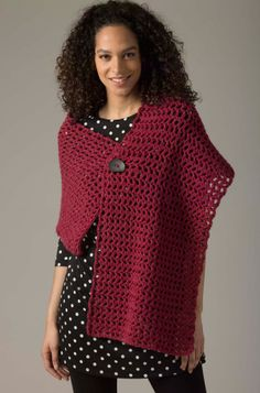 Level 1 Crocheted Shawl: free #crochet #pattern