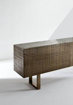 Furniture - Chest of drawer dresser - BD 91 Metal Furniture, Table Furniture, Modern Furniture, Furniture Design, Low Sideboard, Sideboard Cabinet, Made To Measure Furniture, Dresser Shelves, Liquid Metal
