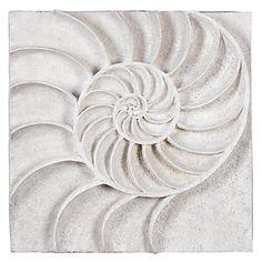 Nautilus Shell Plaque | Wall Decor | Mirrors & Wall Decor | Decor | Z Gallerie