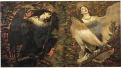 Sirin and Alkonost The Birds of Joy and Sorrow - Viktor Vasnetsov. Tretjakov Gallery, Moscow.