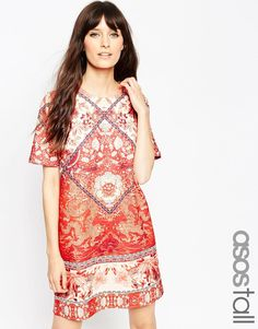 ASOS+TALL+Tile+Print+T-Shirt+Dress Boho Chic 8fa9f9478b