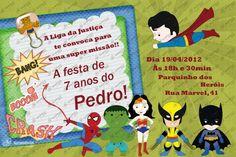 Convite Digital - Super Heróis #1
