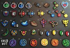 Legend of Zelda Perler Keychains or magnets by RatedEforEveryone