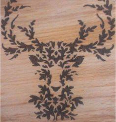 AHŞAP YAKMA SANATI | PYROGRAVURE | PYROGRAPHY tree deer  woodburning art pattern draw sanat çizgi animal wallpaper hayvan desen motif deer